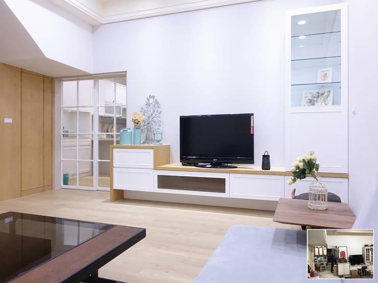 水木空間設計:  客廳 by 水木空間設計