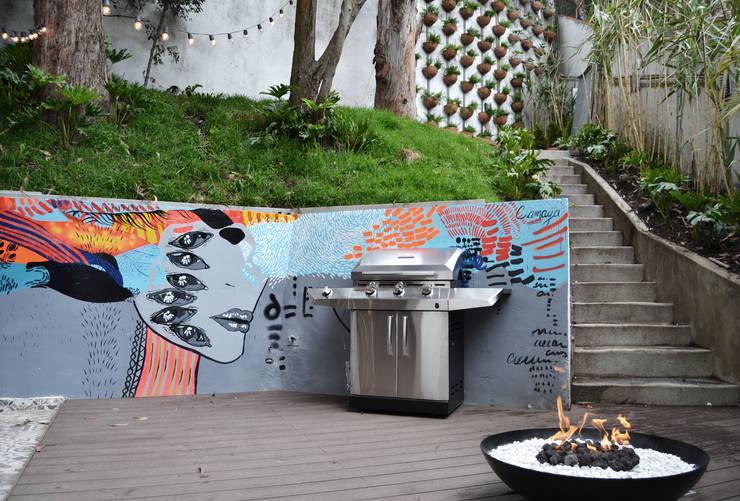 APARTAMENTO CIRCUNVALAR: Terrazas de estilo  por santiago dussan architecture & Interior design