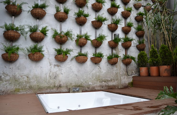 APARTAMENTO CIRCUNVALAR: Terrazas de estilo  por santiago dussan architecture & Interior design,