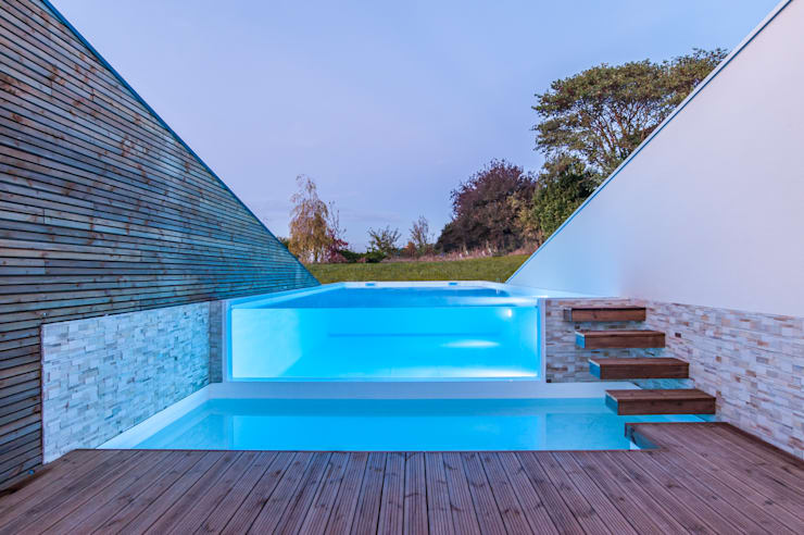 Infinity pool door Pixcity, Modern Glas