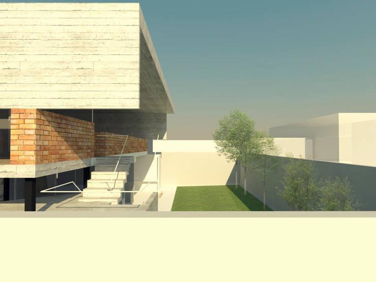 Patio - Planta alta - Escalera:  de estilo  por FP Arquitectura