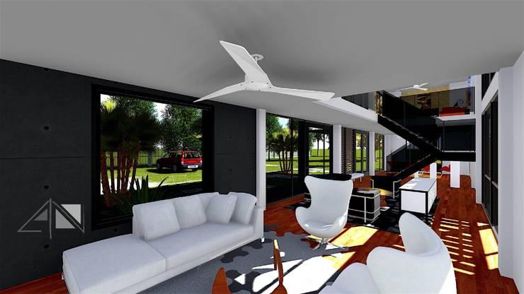 Casa Hotel Apiay:  de estilo  por ARQUITECTOnico