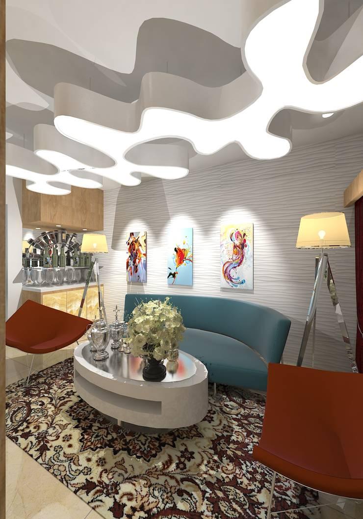 Prashant Residence:  Living room by Gurooji Designs