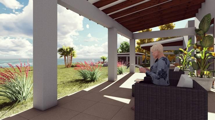 Terraza: Terrazas  de estilo  por Atelier Arquitectura