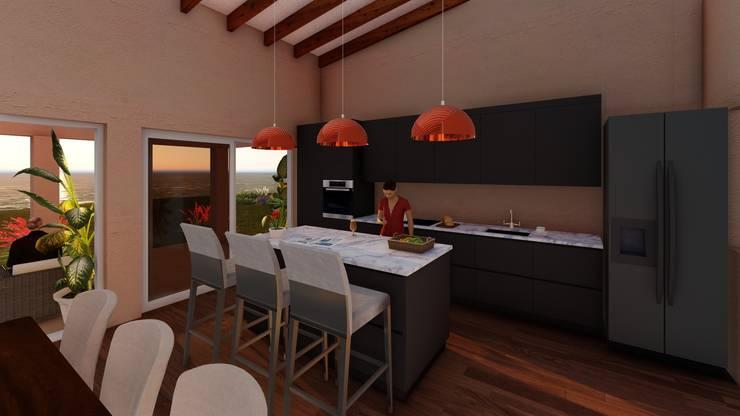 Cocina: Cocinas equipadas de estilo  por Atelier Arquitectura