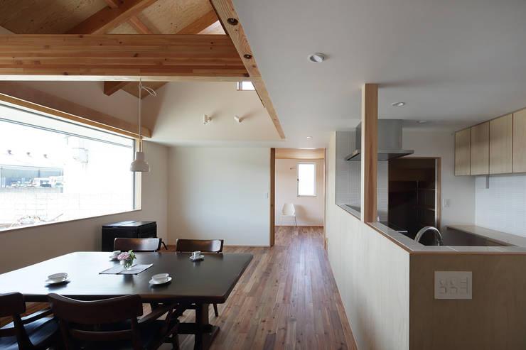 1階のリビング: 神成建築計画事務所が手掛けたリビングです。