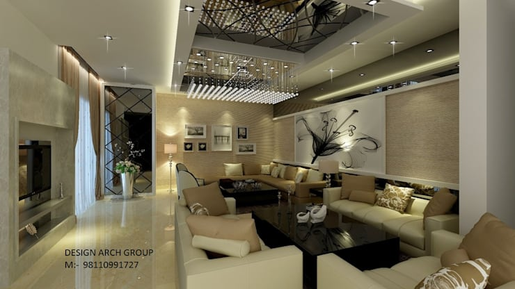 Interior: modern Living room by Design Arch Group