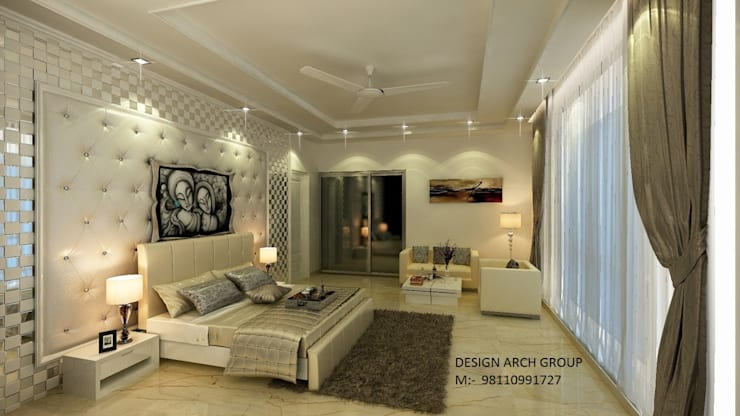 Interior: modern Bedroom by Design Arch Group