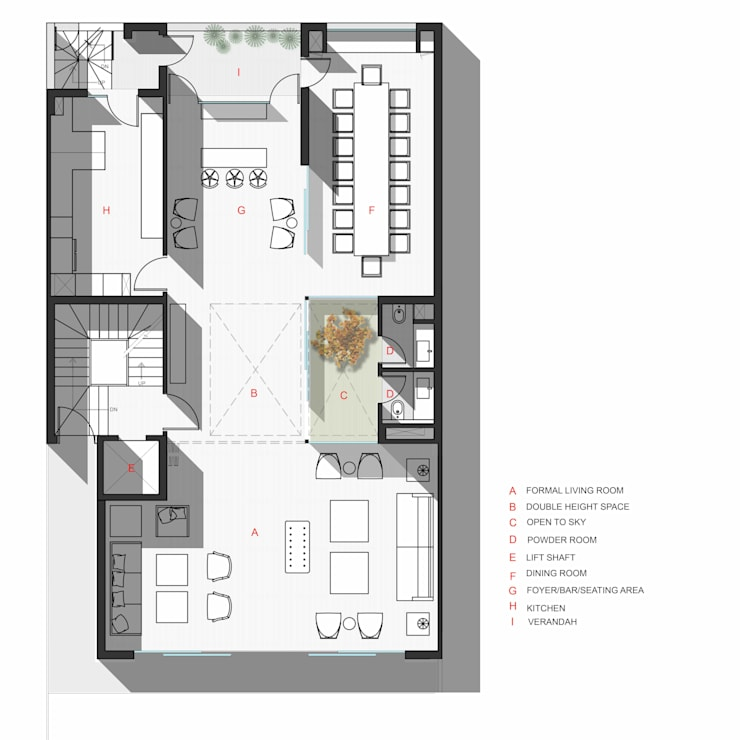 Ground Floor Plan: modern  by mold design studio,Modern