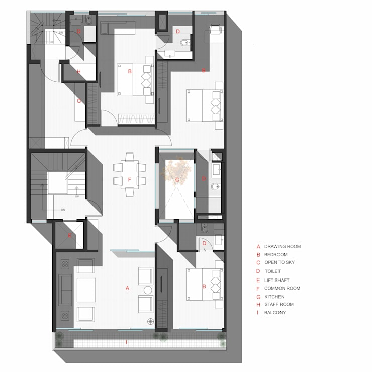 Third Floor Plan: modern  by mold design studio,Modern