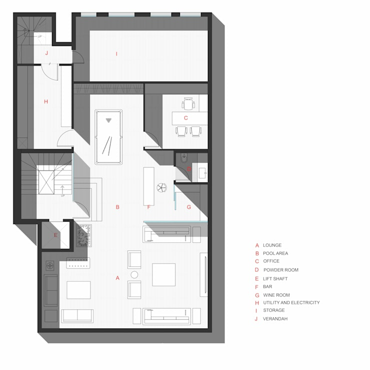 Basement Plan: modern  by mold design studio,Modern