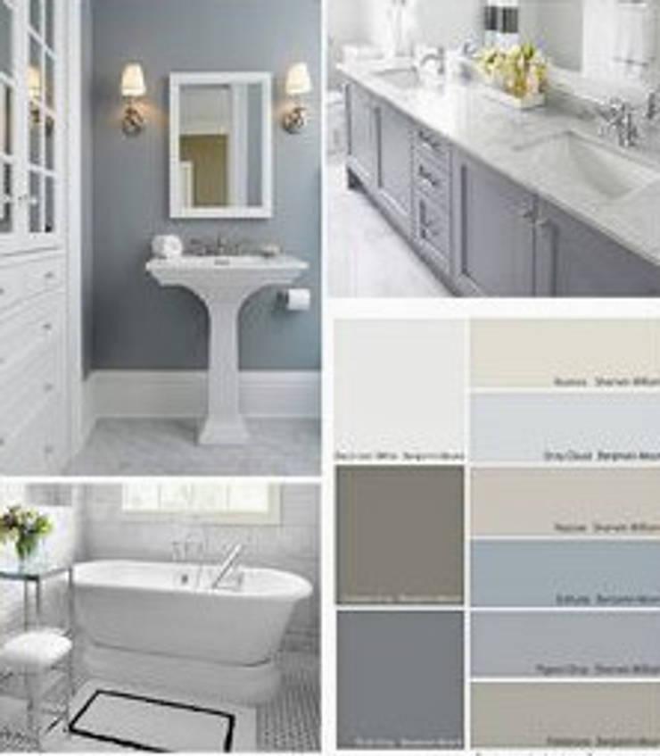 Bathroom:  Bathroom by Nozipho Construction, Modern