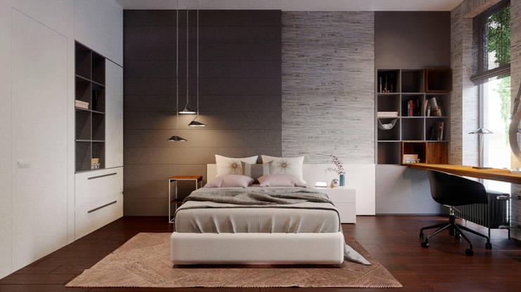 Habitaciones para niñas de estilo  por Архитектурная студия Чадо