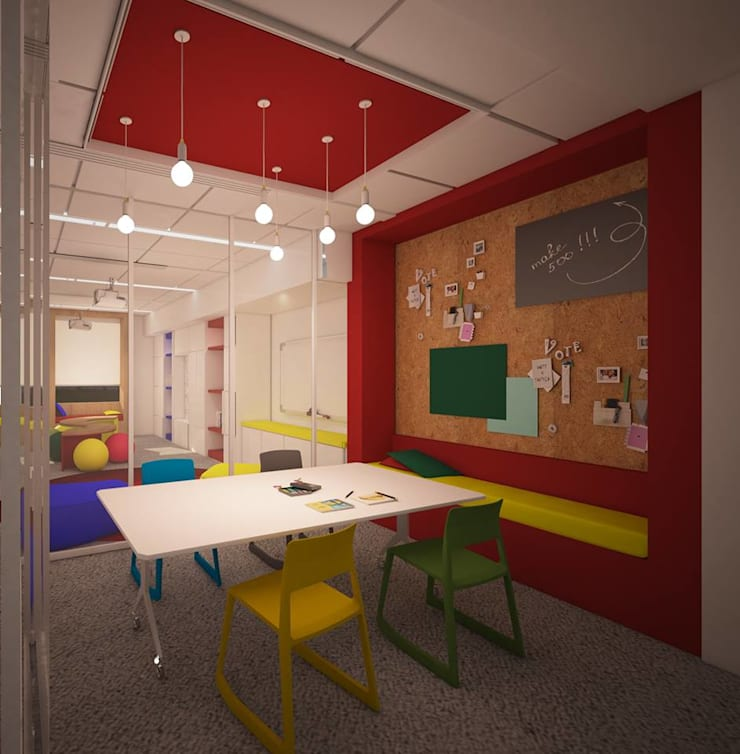 American Community School Common Learning Space:  Schools by dal design office