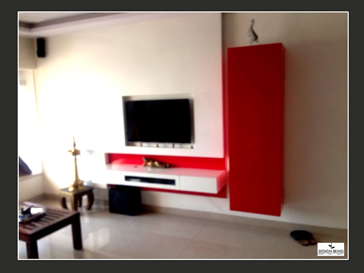 DesignBeing project - Residential, Mumbai:  Living room by Design Being ,Modern