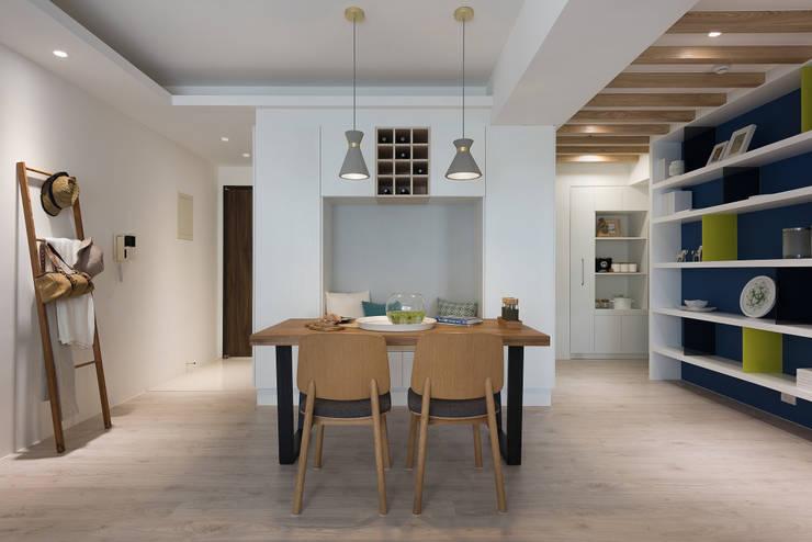 溫.沐光:  餐廳 by 寓子設計