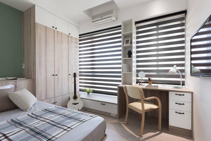 溫.沐光:  臥室 by 寓子設計