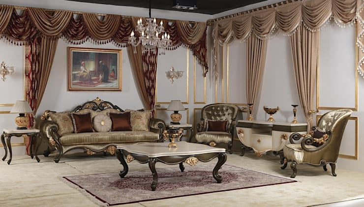 classic Living room by LUXURY FURNITURE