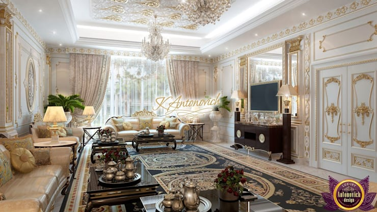 ​Living room design, the ideas of Katrina Antonovich:  Living room by Luxury Antonovich Design