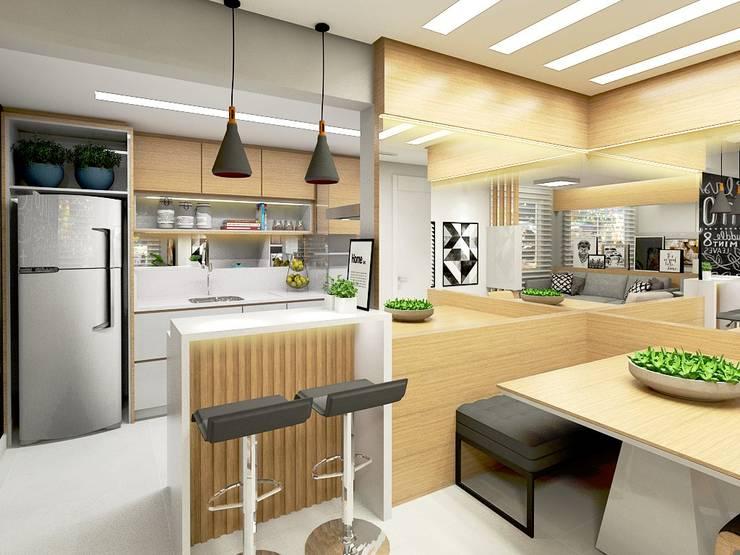 Cocinas de estilo  por Letícia Saldanha Arquitetura, Moderno