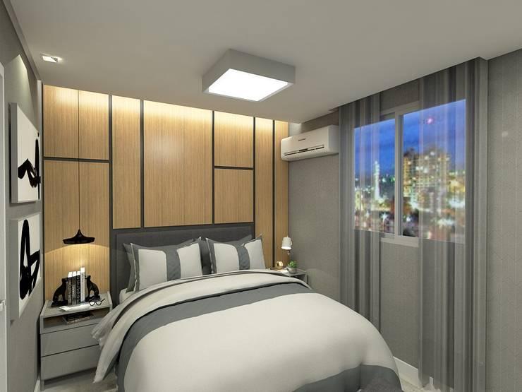 Chambre de style  par Letícia Saldanha Arquitetura, Moderne