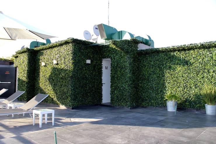 Roof Garden Condesa: Terrazas de estilo  por Nube Interiorismo