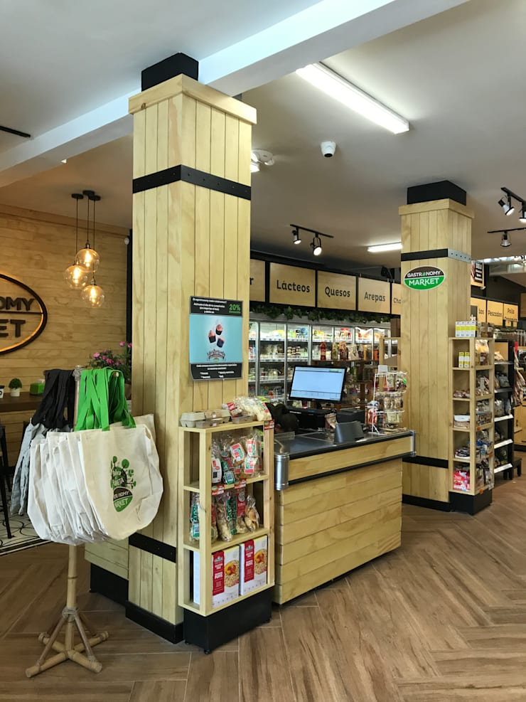 Cajas: Locales gastronómicos de estilo  por Ecologik