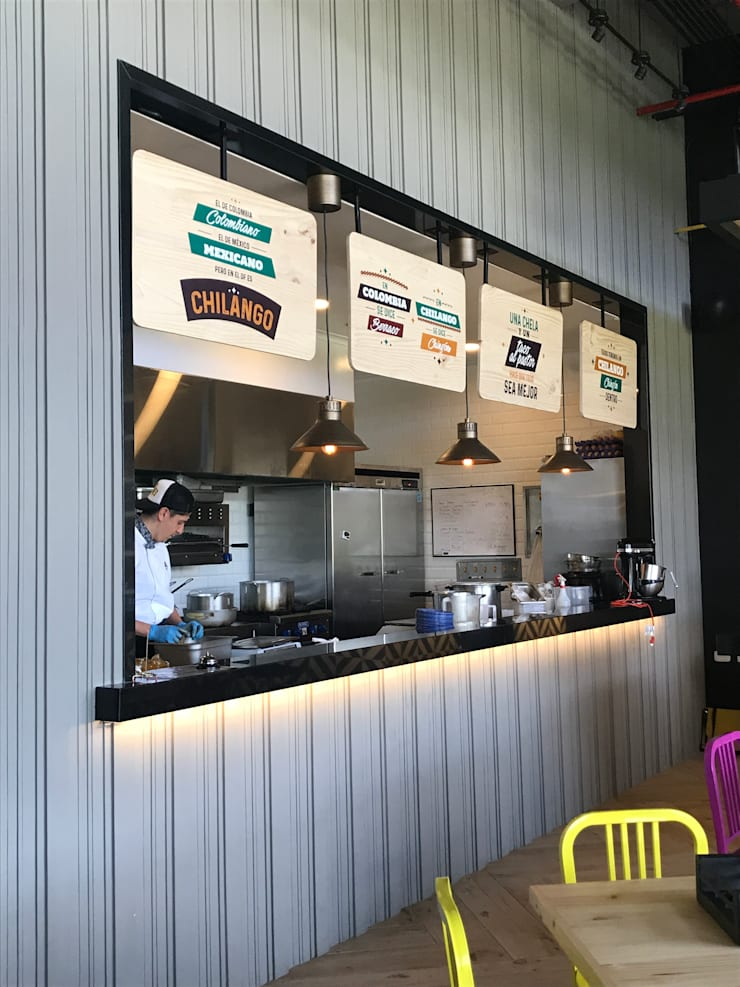 Cocina abierta: Locales gastronómicos de estilo  por Ecologik