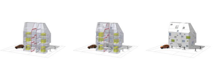 내부공간구성과 창문계획: 깊은풍경의 현대 ,모던