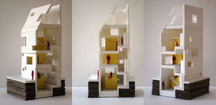 모형사진: 깊은풍경의 현대 ,모던