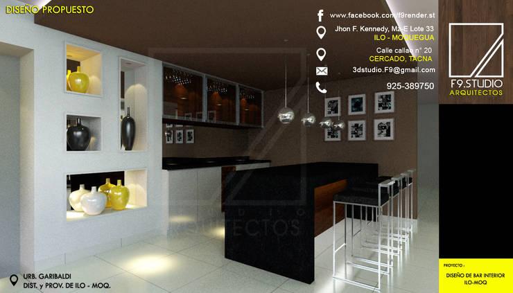 Diseño de Bar Ilo, Moquegua de F9.studio Arquitectos Minimalista Granito