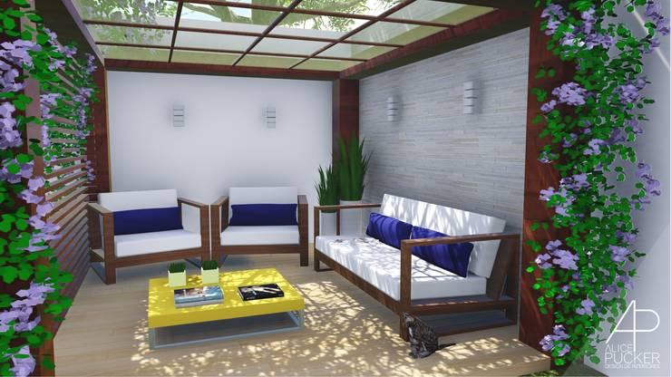 Jardines zen de estilo  por Alice Pucker Design de Interiores