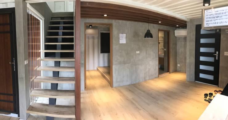 鹿谷貨櫃住宅:  餐廳 by 石方室內裝修有限公司