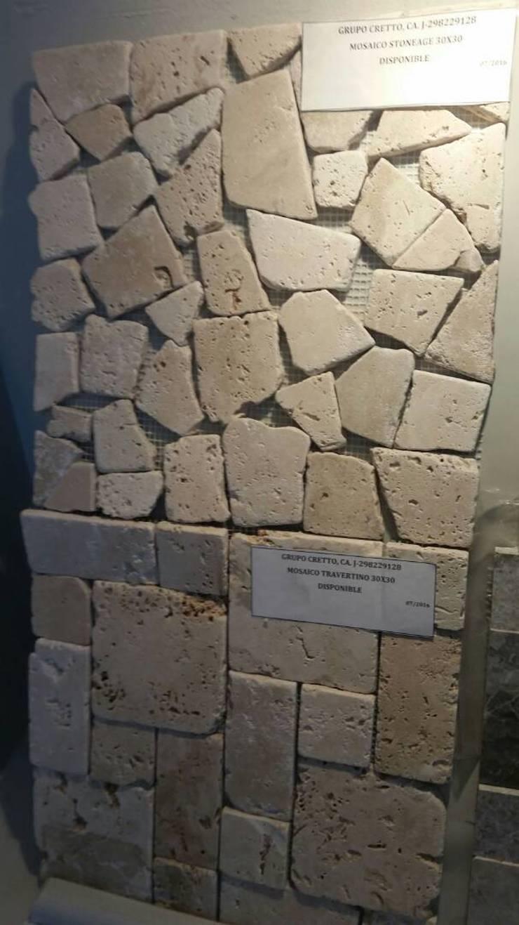 Mosaicos Travertino: Paredes de estilo  por Grupo Cretto, C.A