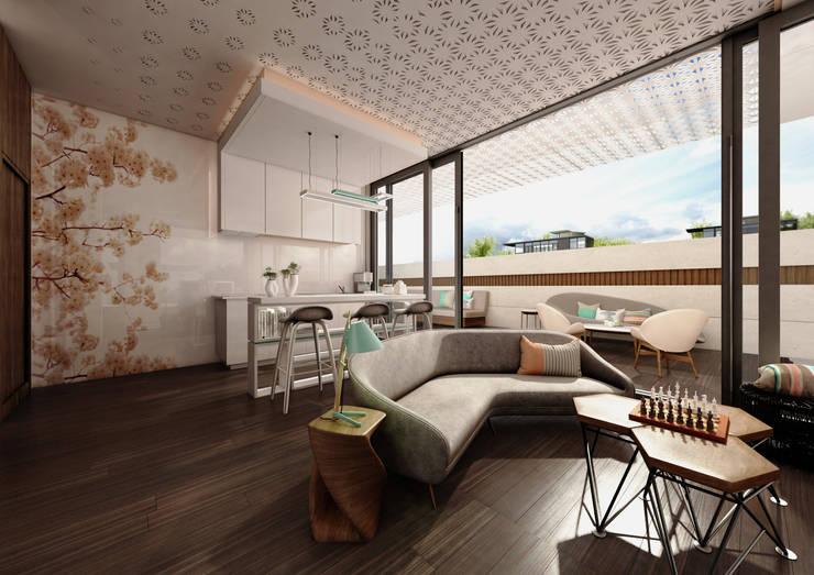 Private Villa:  Living room by dal design office