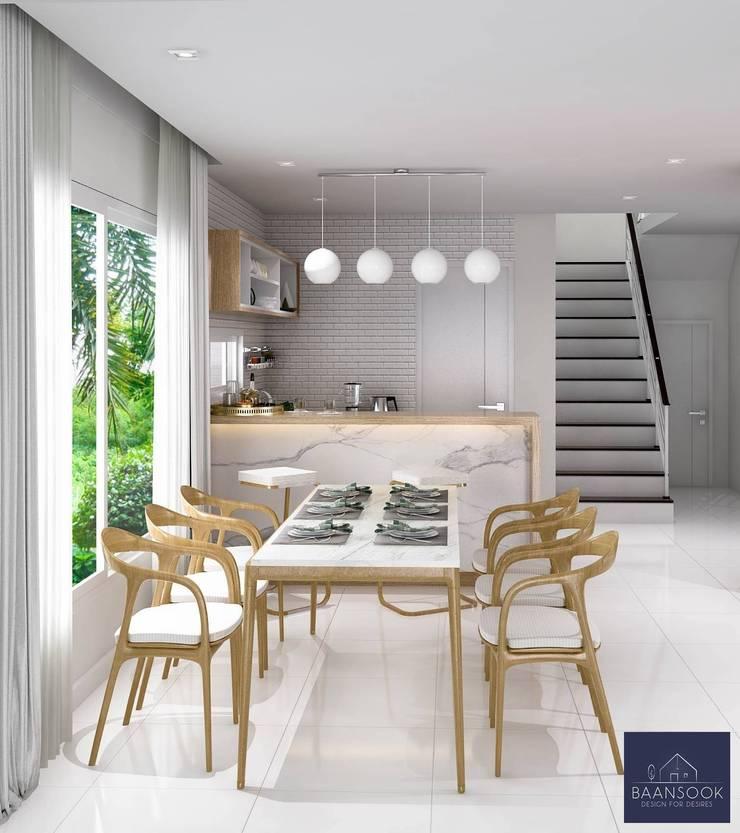 Modern Zen – Habitia Bond ราชพฤกษ์:   by BAANSOOK Design & Living Co., Ltd.