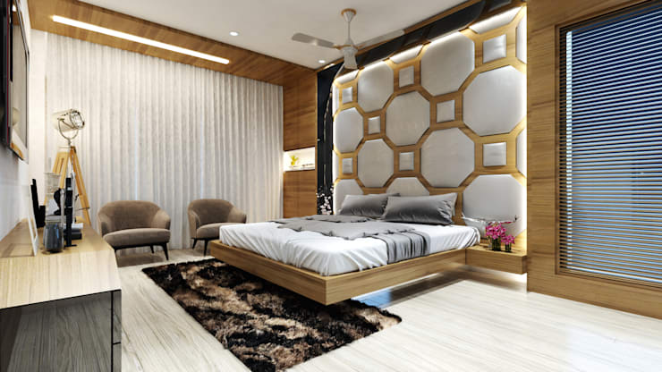 master room1:  Bedroom by quite design