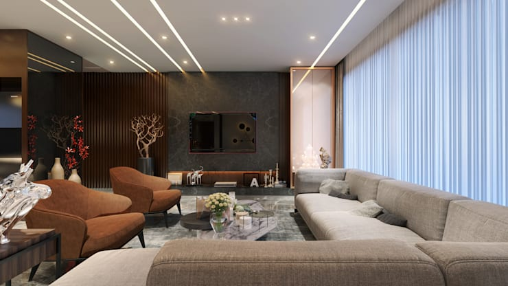 living area1:  Living room by quite design