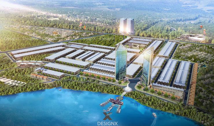 Dự án Khu Đô Thị Sun River City :  Khu Thương mại by CTY CP KIẾN TRÚC XÂY DỰNG DESIGNX