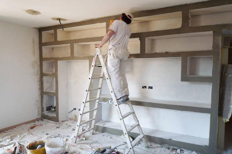 La realizzazione di una libreria in cartongesso for Come arredare una parete attrezzata