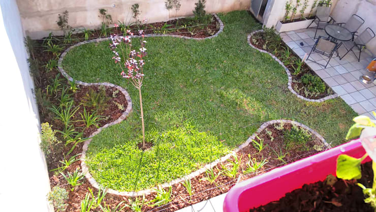 Jardín Las Enanas:  de estilo  por Dhena CONSTRUCCION DE JARDINES,