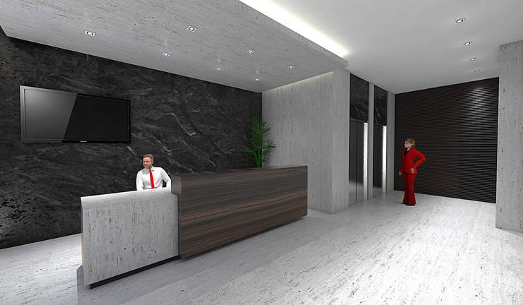 Koridor dan lorong oleh ARCO Arquitectura Contemporánea , Modern Beton