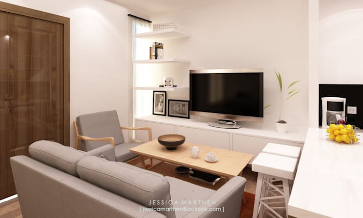 modern Living room by JESSICA DESIGN STUDIO