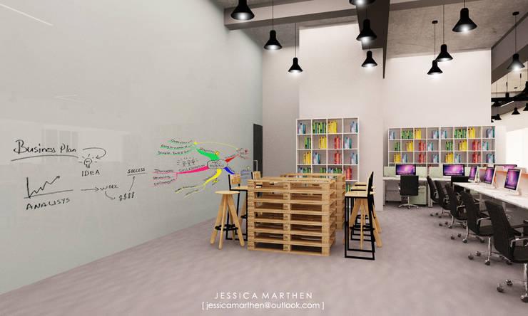 Koridor & Tangga Gaya Industrial Oleh JESSICA DESIGN STUDIO Industrial