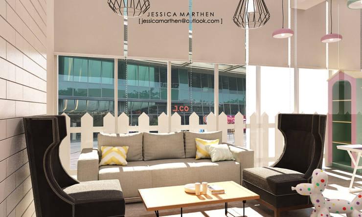 scandinavian Living room by JESSICA DESIGN STUDIO