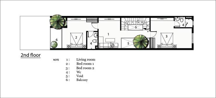 L house:  Nhà gia đình by AE STUDIO DESIGN
