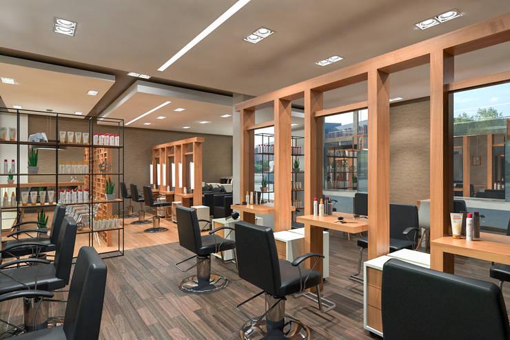 BIJIN: Oficinas y tiendas de estilo  por Indigo Arquitectos