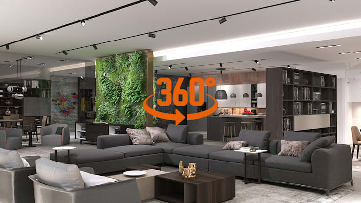 Virtual Showroom 360° Cucina moderna di Nespoli 3d Moderno