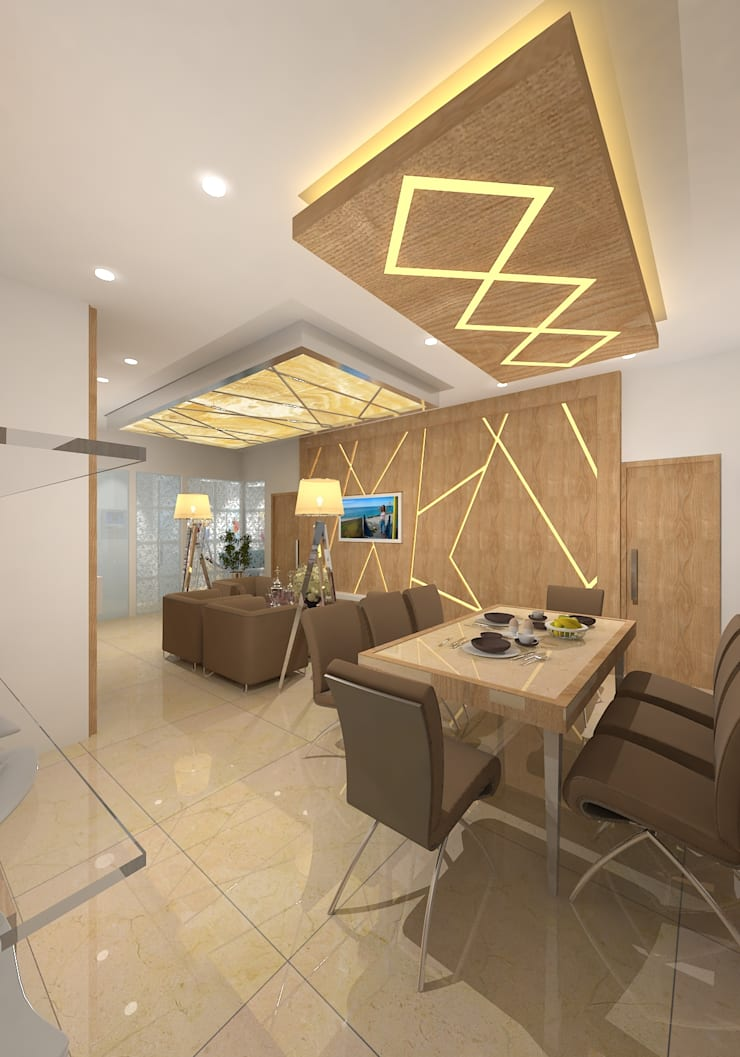 modern Dining room by Gurooji Design