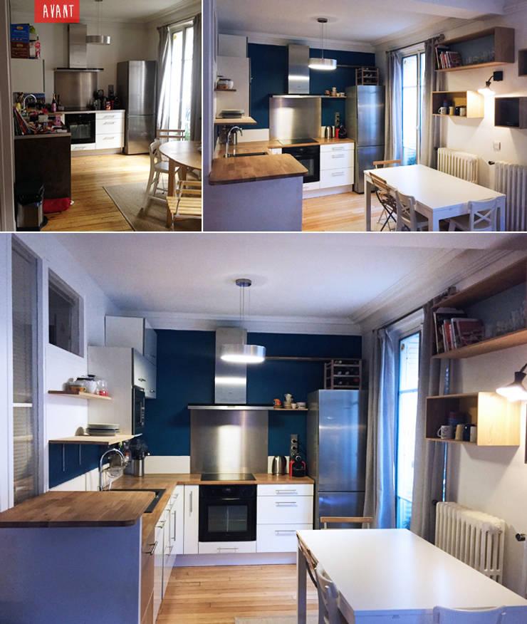 home staging pour une cuisine paris 17 par agn s dandine. Black Bedroom Furniture Sets. Home Design Ideas